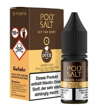 Pod Salt - Fusion Lemon Cake 10 ml - 20 mg