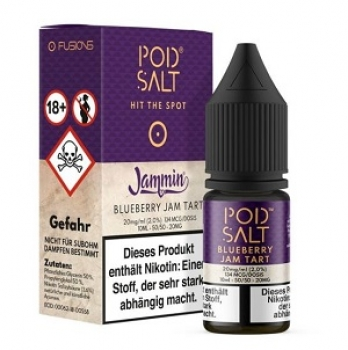 Pod Salt - Fusion Blueberry Jam Tart 10 ml - 20 mg