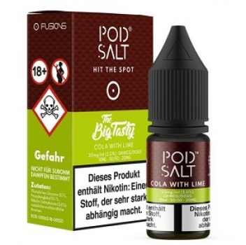 Pod Salt - Fusion Cola with Lime 10 ml - 20 mg